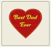 Tarjeta de felicitación feliz del día de padre Imagen de archivo