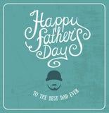 Tarjeta de felicitación feliz del día de padre Imagen de archivo libre de regalías