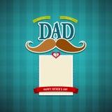 Tarjeta de felicitación feliz del día de padres ilustración del vector