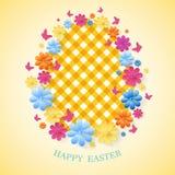 Tarjeta de felicitación feliz del día de Pascua Vector eps10 libre illustration
