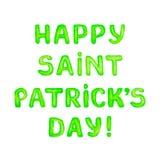Tarjeta de felicitación feliz del día de Patricks del santo Imágenes de archivo libres de regalías