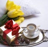 Tarjeta de felicitación feliz del día de tarjeta del día de San Valentín Imágenes de archivo libres de regalías