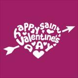 Tarjeta de felicitación feliz del día de tarjeta del día de San Valentín Fotos de archivo