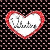 Tarjeta de felicitación feliz del día de tarjeta del día de San Valentín Fotos de archivo libres de regalías