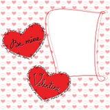Tarjeta de felicitación feliz del día de tarjeta del día de San Valentín Fotografía de archivo