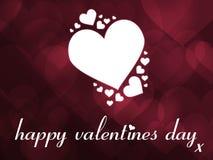 Tarjeta de felicitación feliz del día de tarjeta del día de San Valentín Imagen de archivo