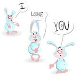 Tarjeta de felicitación feliz del día de tarjeta del día de San Valentín declaración Imagen de archivo libre de regalías