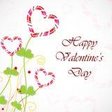 Tarjeta de felicitación feliz del día de tarjetas del día de San Valentín Fotografía de archivo