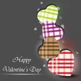 Tarjeta de felicitación feliz del día de tarjetas del día de San Valentín, Fotos de archivo libres de regalías