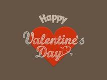 Tarjeta de felicitación feliz del día de tarjetas del día de San Valentín Fotos de archivo libres de regalías