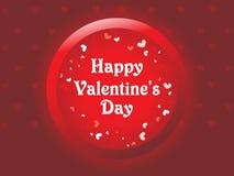 Tarjeta de felicitación feliz del día de tarjetas del día de San Valentín, ejemplo del vector Fotos de archivo libres de regalías