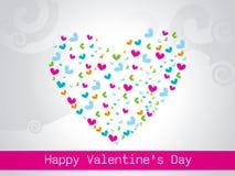 Tarjeta de felicitación feliz del día de tarjetas del día de San Valentín, ejemplo del vector Fotos de archivo