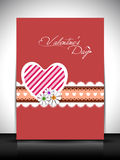 Tarjeta de felicitación feliz del día de tarjetas del día de San Valentín, tarjeta de regalo o fondo. EPS Foto de archivo libre de regalías
