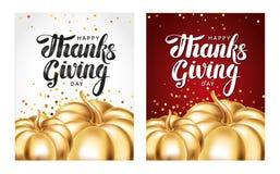 Tarjeta de felicitación feliz del día de la acción de gracias Foto de archivo libre de regalías