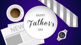 Tarjeta de felicitación feliz del día del padre s ilustración del vector