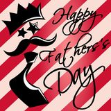 Tarjeta de felicitación feliz del día de padres stock de ilustración