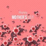 Tarjeta de felicitación feliz del día del ` s de la madre Imagen de archivo libre de regalías