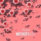 Tarjeta de felicitación feliz del día del ` s de la madre Foto de archivo