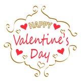 Tarjeta de felicitación feliz del día del `s de la tarjeta del día de San Valentín Foto de archivo libre de regalías