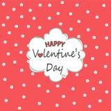Tarjeta de felicitación feliz del día del `s de la tarjeta del día de San Valentín Fotografía de archivo libre de regalías