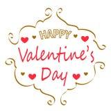 Tarjeta de felicitación feliz del día del `s de la tarjeta del día de San Valentín Fotos de archivo libres de regalías