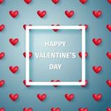 Tarjeta de felicitación feliz del día del `s de la tarjeta del día de San Valentín Fondo del vector EPS10 Foto de archivo