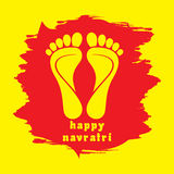 Tarjeta de felicitación feliz del festival del diwali o del navratri Imágenes de archivo libres de regalías