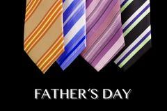 Tarjeta de felicitación feliz del lazo del día de padre Fotografía de archivo
