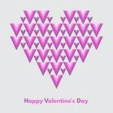 Tarjeta de felicitación feliz del vector del día de tarjetas del día de San Valentín Imagen de archivo libre de regalías