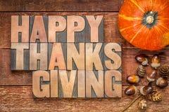 Tarjeta de felicitación feliz de la acción de gracias Fotografía de archivo libre de regalías