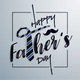 Tarjeta de felicitación feliz de la tipografía del día del ` s del padre