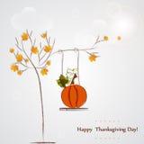 Tarjeta de felicitación feliz de las celebraciones del día de la acción de gracias Fotografía de archivo