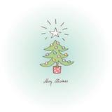 Tarjeta de felicitación - Feliz Navidad Fotografía de archivo libre de regalías