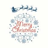Tarjeta de felicitación Feliz Navidad Imagen de archivo