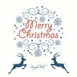 Tarjeta de felicitación Feliz Navidad Fotos de archivo
