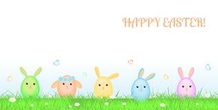 Tarjeta de felicitación feliz de Pascua Imágenes de archivo libres de regalías