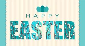 Tarjeta de felicitación feliz de Pascua libre illustration