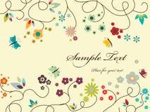Tarjeta de felicitación floral Fotos de archivo