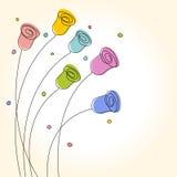Tarjeta de felicitación floral Foto de archivo