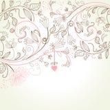 Tarjeta de felicitación floral Fotos de archivo libres de regalías