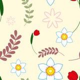Tarjeta de felicitación floral colorida Fotos de archivo