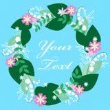 Tarjeta de felicitación floral colorida Imagenes de archivo