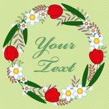Tarjeta de felicitación floral colorida Imagen de archivo