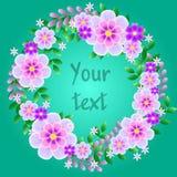 Tarjeta de felicitación floral colorida Día de madres feliz internacional Fotos de archivo