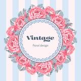 Tarjeta de felicitación floral del vintage Fotos de archivo