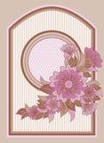 Tarjeta de felicitación floral del vintage, vector Imagen de archivo libre de regalías