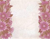 Tarjeta de felicitación floral del vintage, vector Foto de archivo