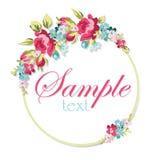 Tarjeta de felicitación floral hermosa Imágenes de archivo libres de regalías
