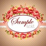 Tarjeta de felicitación floral hermosa Fotografía de archivo