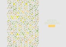 Tarjeta de felicitación geométrica del Arabesque Elemento colorido del diseño de los cascos del corte del papel Detalle ornamenta libre illustration
